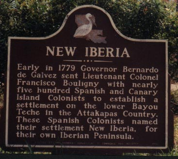 Plaque of Settlement of New Iberia